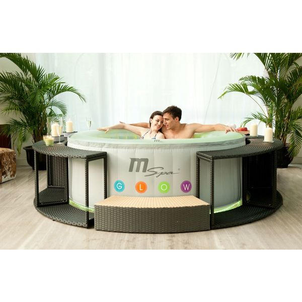 spa gonflable 4 places oasis glow lite