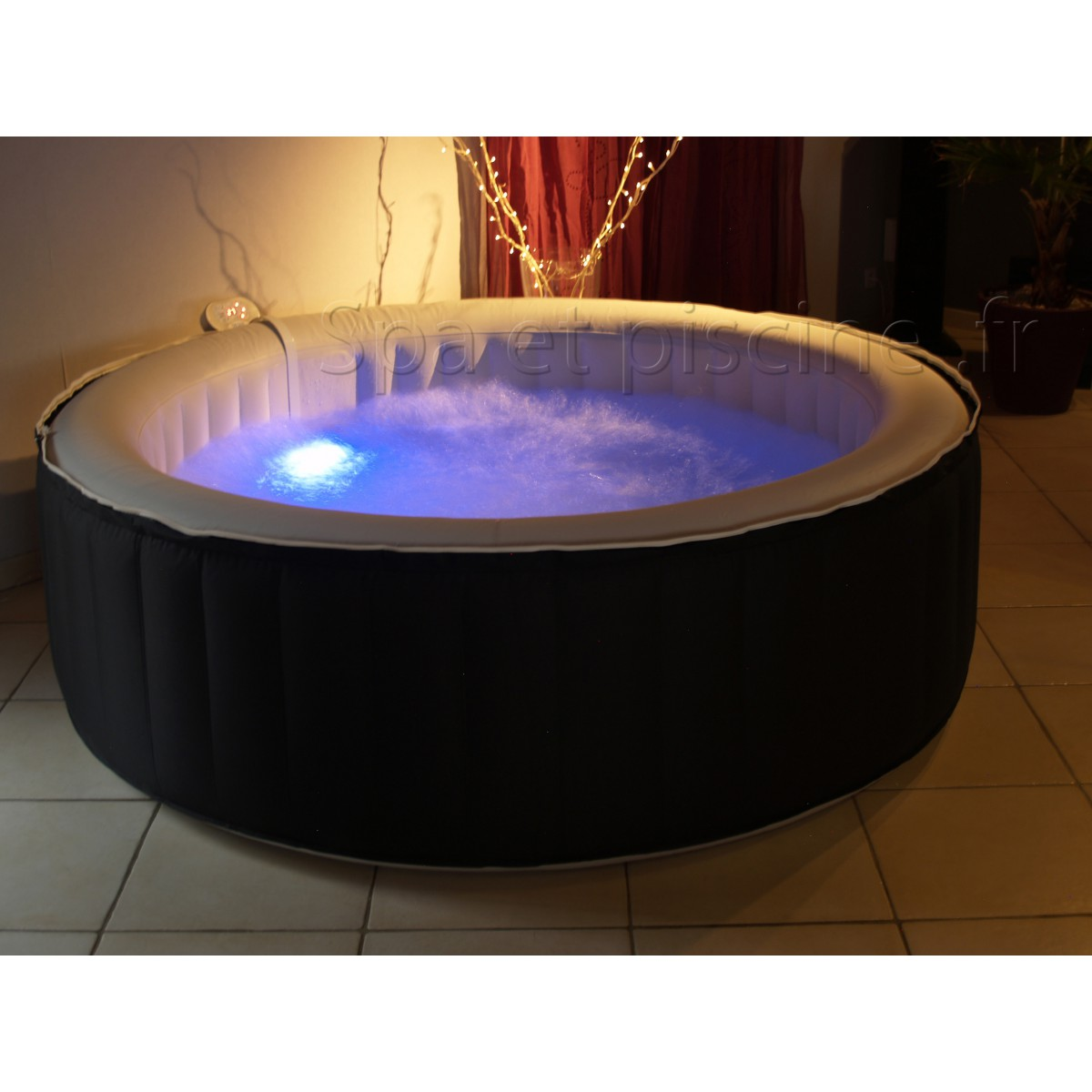 spa gonflable 6 places avec led. Black Bedroom Furniture Sets. Home Design Ideas