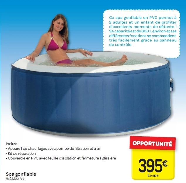 spa gonflable a carrefour