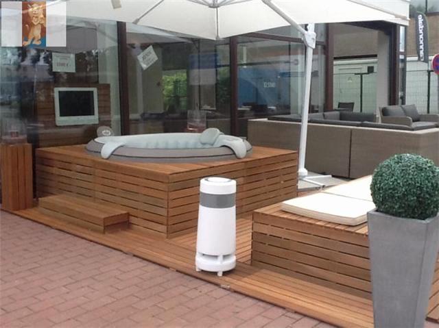 spa gonflable habillage bois. Black Bedroom Furniture Sets. Home Design Ideas
