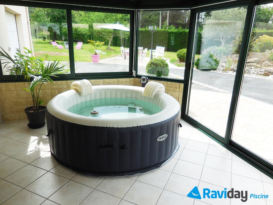 spa gonflable intex pure spa plus avec piscine