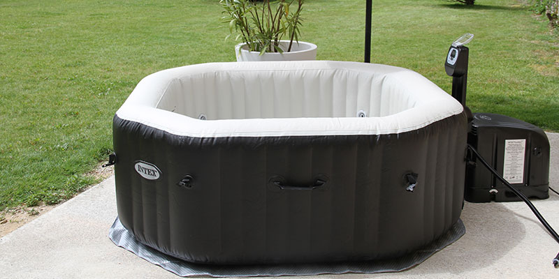 spa gonflable intex purespa jets et bulles octogonal