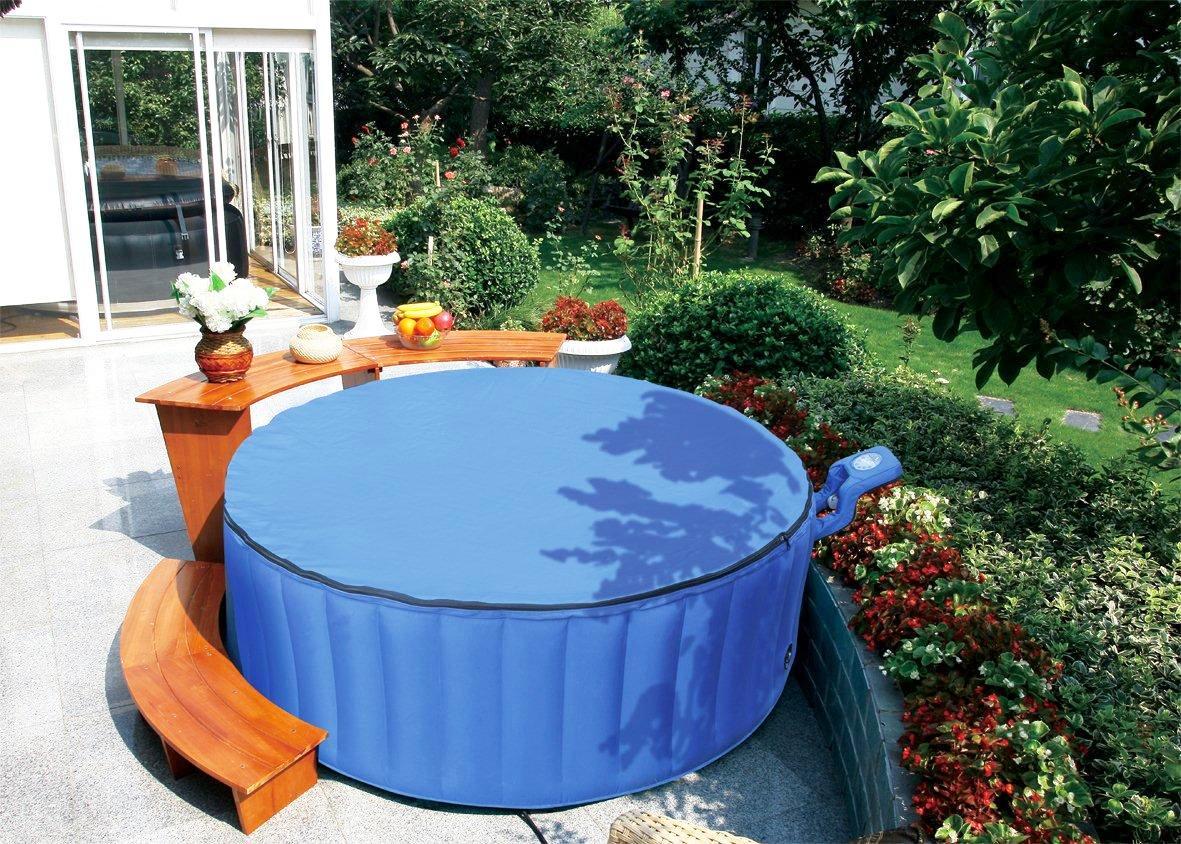 spa gonflable jardin