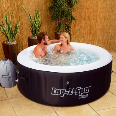 spa gonflable lay-z miami air jet 2 a 4 personnes