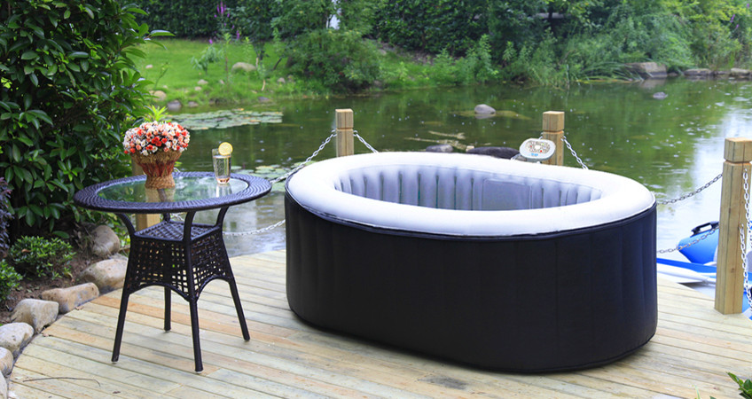 spa gonflable ovale 2 personnes