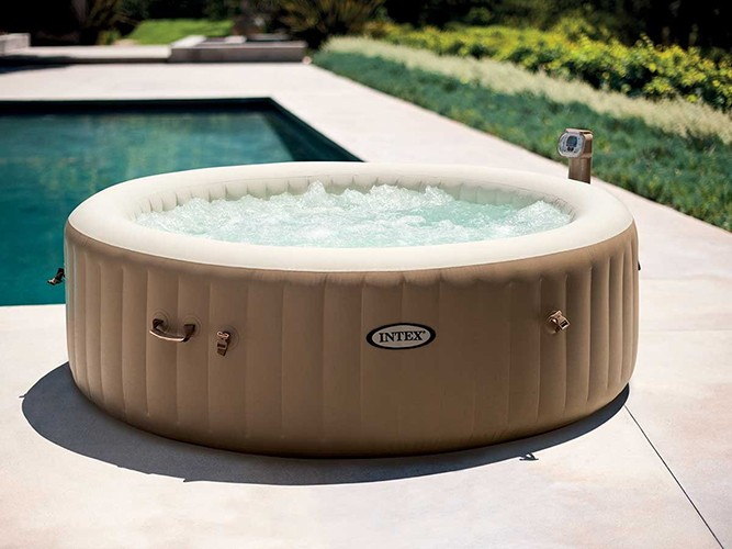 spa gonflable pure spa bubble led intex 6 places