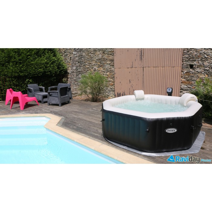 spa gonflable purespa octogonal bulles + jets 6 places – intex