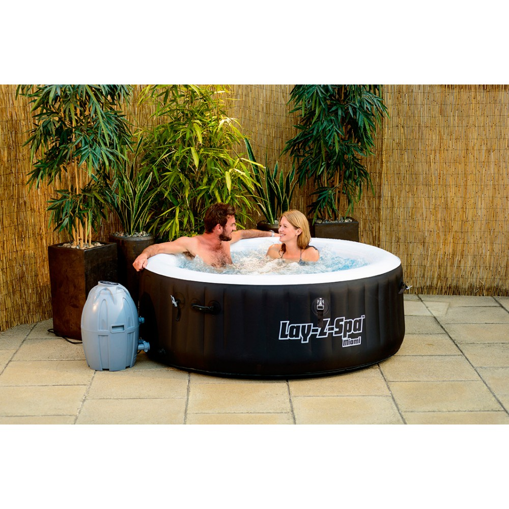 spa gonflable rond lay-z miami – 2 a 4 personnes