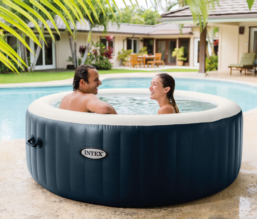 spa gonflable vannes