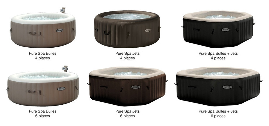 spa intex pure spa bulles 6 places luxe. Black Bedroom Furniture Sets. Home Design Ideas