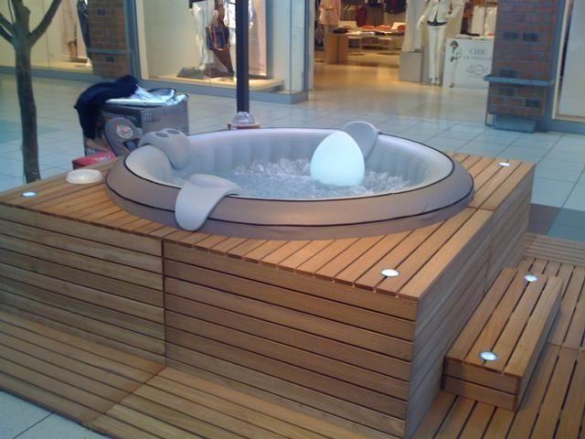 spa jacuzzi en bois