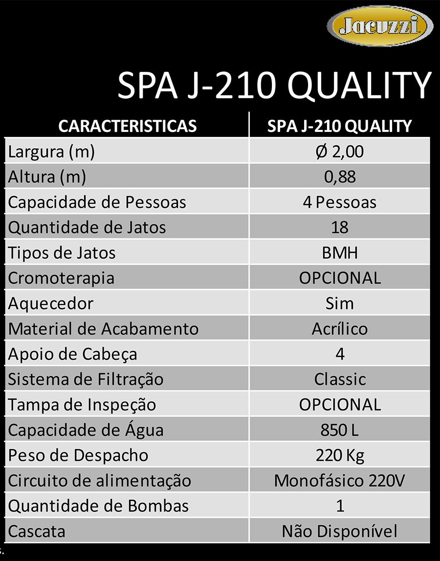 spa jacuzzi j210 quality